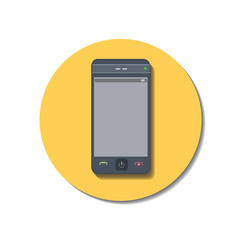 Icon web of Phone over white background