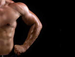 torso of a strong  man