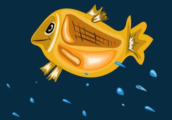 Fish splashing in the sea