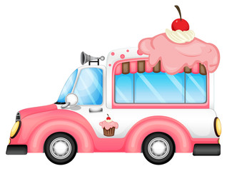 A vehicle selling desserts