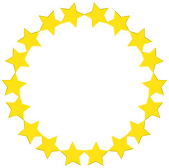 A round star template