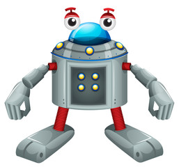 A cute gray robot