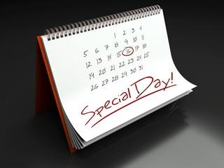 Special important day, calendar concept
