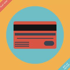 Bank credit cards - vector illustration. Flat design element