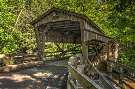 Lanterman Falls Covered Bridge