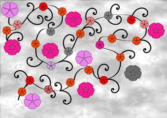 Romantische Blumenranken