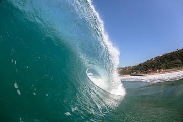 Wave Ocean Inside Crashing Hollow Blue Power