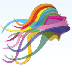 Stylish Rainbow Hair