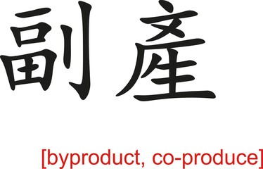 Chinese Sign for byproduct, co-produce
