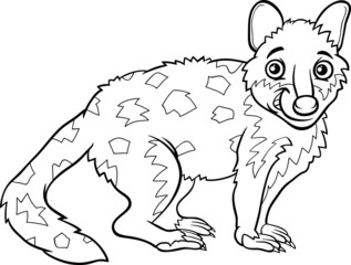 tiger quoll animal coloring book