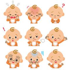 赤ちゃんの色々な表情