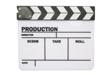 Blank movie clapper board, slate film.