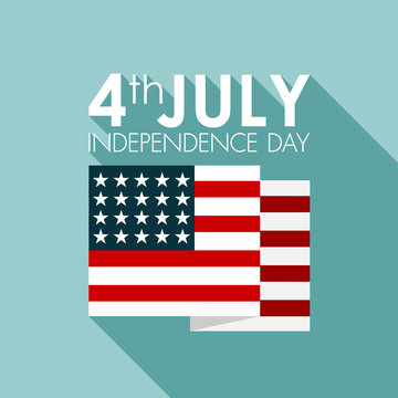 Happy independence day United States of America, 4th of July car