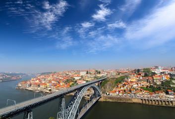 Skyline of the historic city of Porto, Portugal
