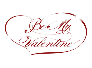 "Red Greeting Card ""Be My Valentine"", vector"