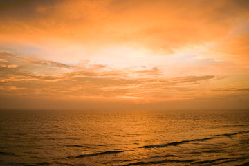 Tranquil sunset over seascape