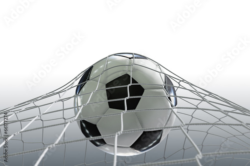 Fussball Netz Auf Weiss Stock Photo And Royalty Free Images