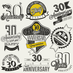 Vintage style 30 anniversary collection.