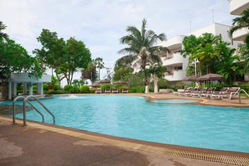 Swimming pool in the resort