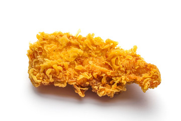 An isolated chicken strip