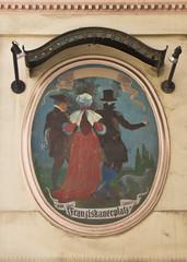 """Gemälde """"am Franziskanerplatz"""" in Wien"""