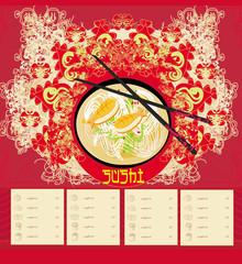 menu for sushi - Template Design