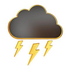Black Cloud with Bolt of Lightning
