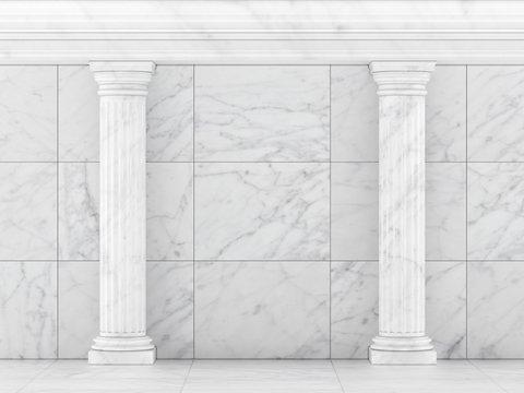 Classic Ancient Columns. Interior Concept