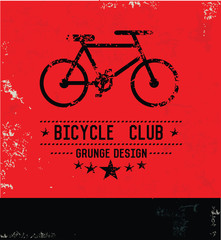 Bicycle concept,Grunge vector