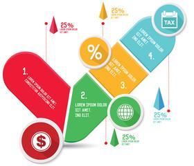 Check mark concept info graphics,vector