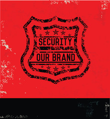 Security concept,Grunge vector
