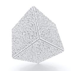 3dwhite cube-labyrinth