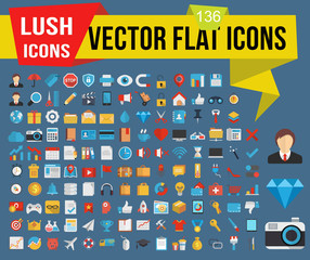 Lush icons - Vector flat icons