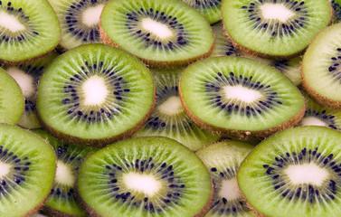 kiwi fruit slices background