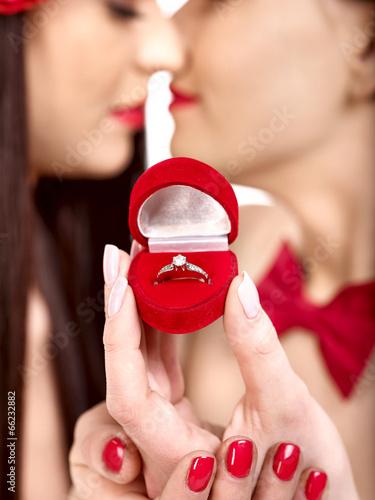 Лесби кольца свадьба