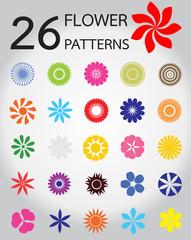 vectors of  flower pattern