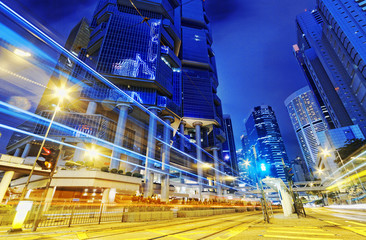 hong kong modern city High speed traffic