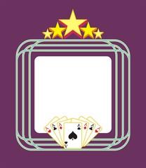 Template gambling light advertising