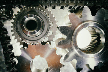 aerospace gears and cogs powered by large chains