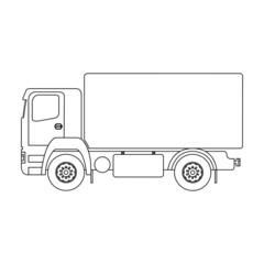 Contour of a truck