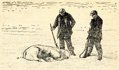 K.Frænkel (left), N.Strindberg. Andrée polar expedition 1897