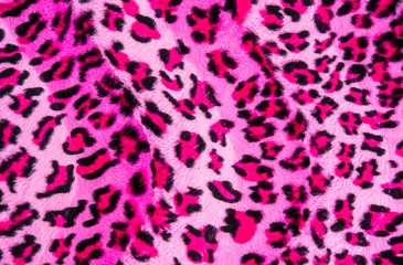 Texture of leopard striped fabric
