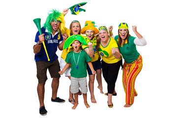 Brazilian friends cheering on