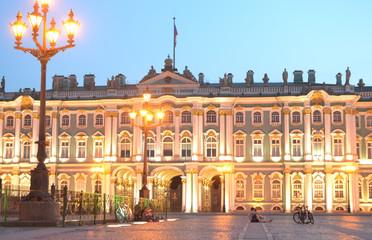 Winter Palace at white night