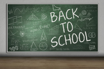 Blackboard with Back to School text