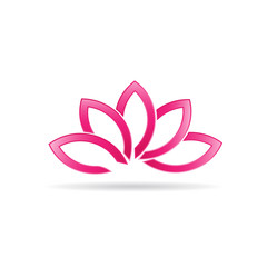 Luxury Lotus plant image logo