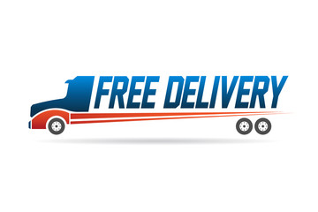 Free delivery truck image logo