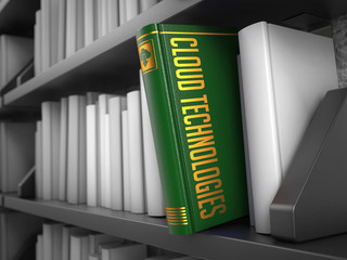 Cloud Technologies - Title of Book. Educational Concept.