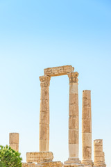 Temple of Hercules on the Citadel Mountain in Amman, Jordan.