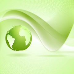 Tech wavy green background